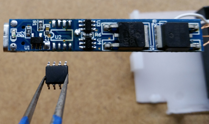 Remove the old microcontroller