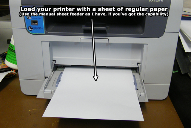 Printer loaded with paper