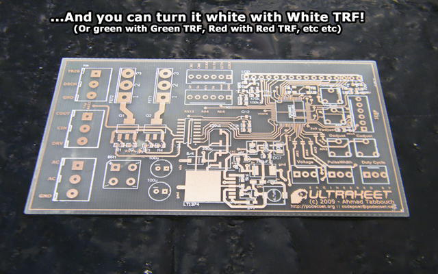 Silkscreen turned white with White TRF