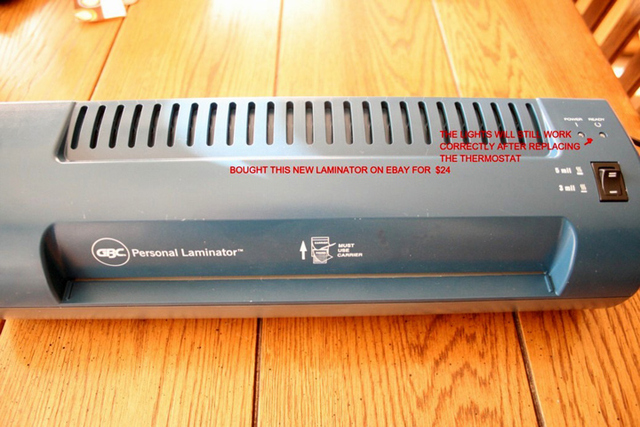 Laminator purchased from Ebay