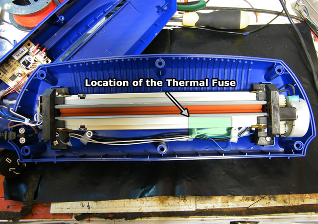 SuperFuser (General location of the thermal fuse)