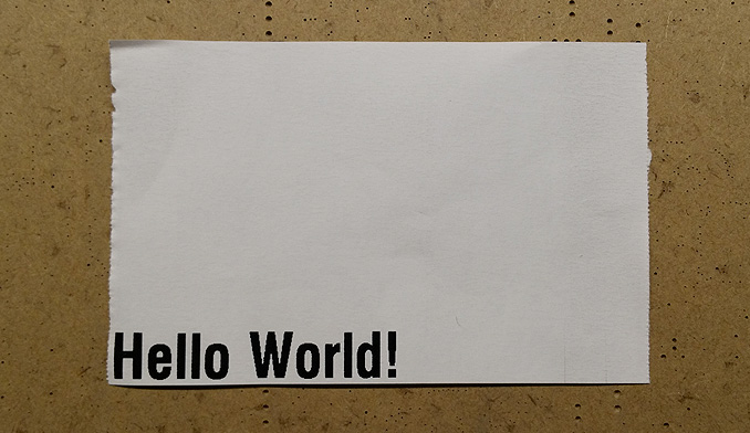 Hello world printout