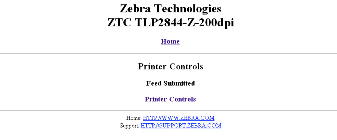 Zebra Printer configuration page (Authorised!)